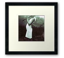 flute stick witch Framed Print