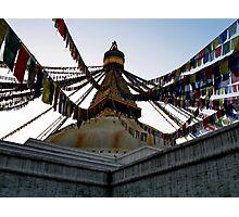 foundation. bouddhanath stupa, nepal Photographic Print