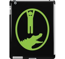 Man hanging getting away from and Alligator or Crocodile iPad Case/Skin