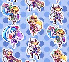Main Heroes Pattern by skywaker