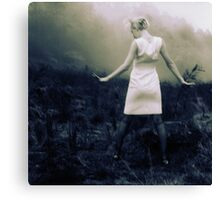 banshee wail under a blue moon Canvas Print