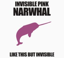 Invisible Pink Narwhal T-Shirt