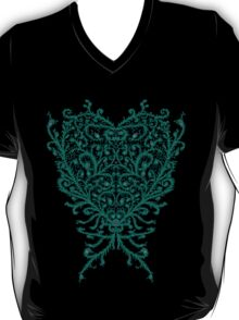 Peacock Heart Tee Dark T-Shirt