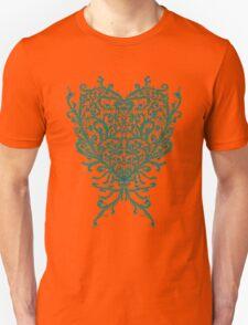 Peacock Heart Tee Dark Unisex T-Shirt