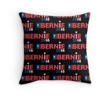 Bernie Sanders for President black Throw Pillow