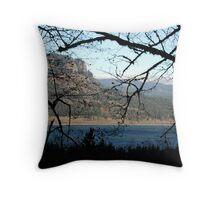 Columbia River Through The Trees Throw Pillow