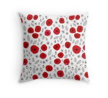 Poppies #1 Throw Pillow