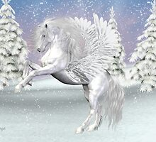 Winter`s Storm .. the mythical winged horse by LoneAngel