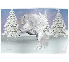Winter`s Storm .. the mythical winged horse Poster