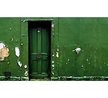 Green door Green wall Photographic Print