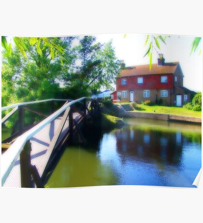 Stoke Lock Bridge - Orton Poster