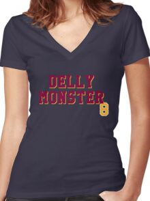 Delly Monster Women's Fitted V-Neck T-Shirt