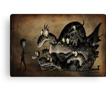 Funny Monsters! Canvas Print