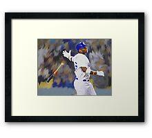 Dodgers All Star Yasiel Puig Framed Print