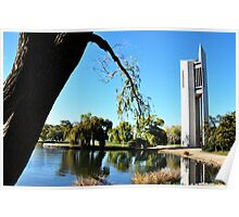 National Carillion & Lake Burley Griffin. Poster