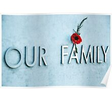 Our family. Poster