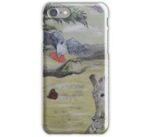 Giraffe and bird family iPhone Case/Skin