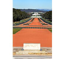 Anzac Parade, Canberra. Photographic Print