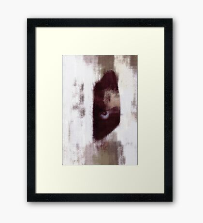 Hello, I 'M HERE ... Framed Print
