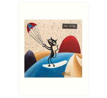 Web Surfing Art Print