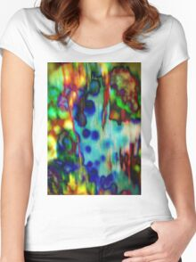 4504 Ocean abstract Women's Fitted Scoop T-Shirt