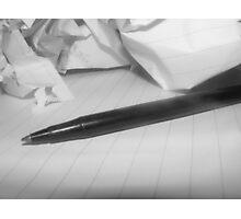 Writers Block. Photographic Print