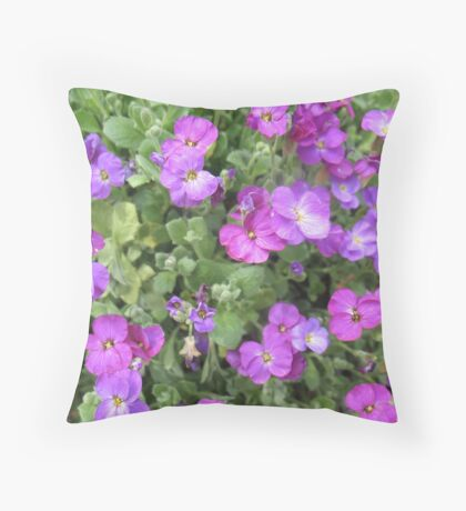Ecstatic Purple  Flowers Throw Pillow