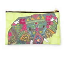 painted elephant chartreuse Studio Pouch