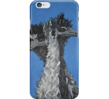 The shy Emus iPhone Case/Skin