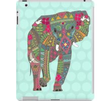 painted elephant aqua iPad Case/Skin