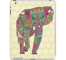 painted elephant straw iPad Case/Skin