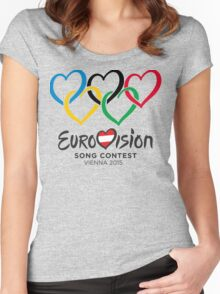 Eurovision Olympics [Vienna 2015] Women's Fitted Scoop T-Shirt