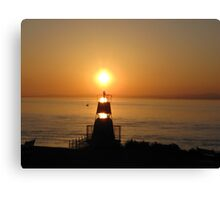 Sunset over the Welsh Coast Canvas Print