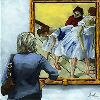 The Dance of Life - woman and Degas by LindaAppleArt