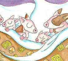Pigs in a Blanket by KOKeefeArt