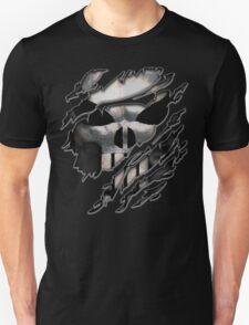 Silver Skull torn tee tshirt T-Shirt