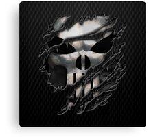 Silver Skull torn tee tshirt Canvas Print