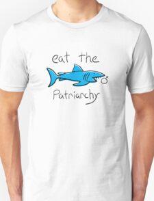 Eat The Patriarchy Feminist Shark Shirt Unisex T-Shirt