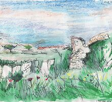 BEE HIVES - CRETE ISLAND(C1997) by Paul Romanowski