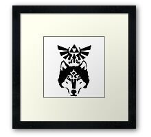 Zelda Twilight Princess - Wolfs eye Framed Print