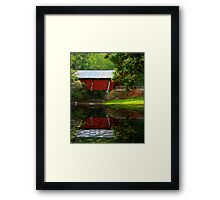 Reflection of Campbell's Covered Bridge Framed Print