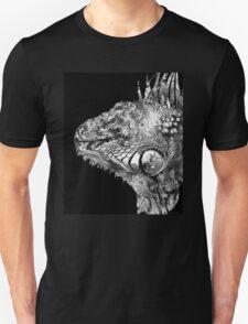 Black And White Iguana Art - One Cool Dude 2 - Sharon Cummings Unisex T-Shirt