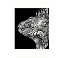 Black And White Iguana Art - One Cool Dude 2 - Sharon Cummings Art Print