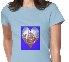 Pink Tree Blossoms Womens Fitted T-Shirt