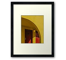 The arch of yellow hotel Framed Print