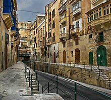 East Street Valletta Malta by Edwin  Catania