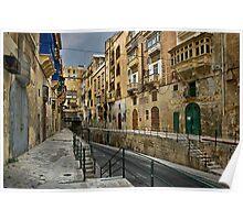 East Street Valletta Malta Poster