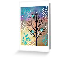 Blue Birds in Tree Greeting Card