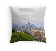 the city I live in Throw Pillow