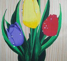 Spring Tulips  by JenniferGollArt
